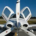 Śmigło samolotu sportowego